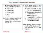 use the poem to answer these questions