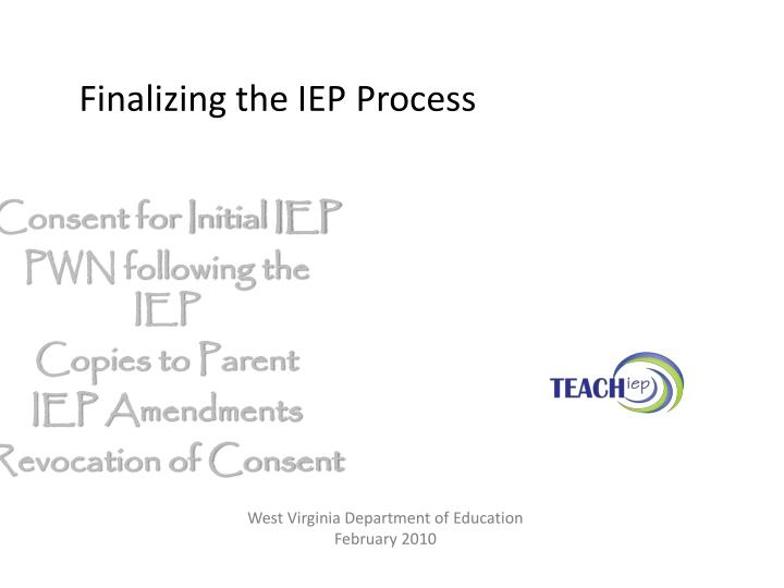 finalizing the iep process n.