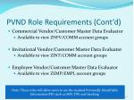 pvnd role requirements cont d