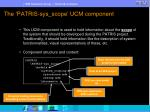 the patris sys scope ucm component