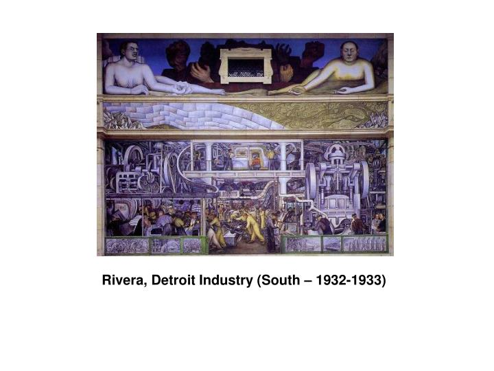 Rivera, Detroit Industry (South – 1932-1933)