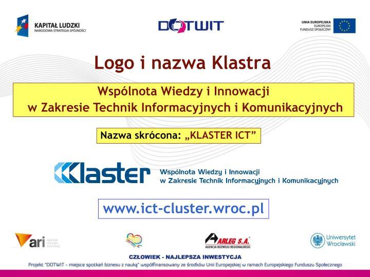 Logo i nazwa Klastra