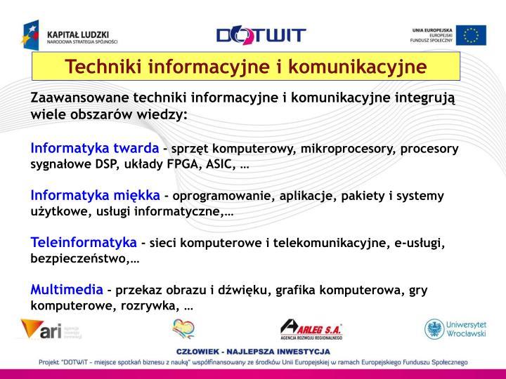 Techniki informacyjne i komunikacyjne