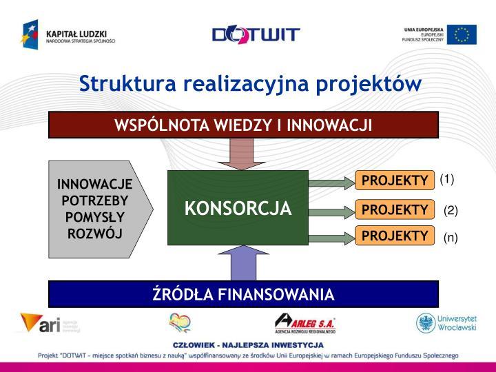 Struktura realizacyjna projektów