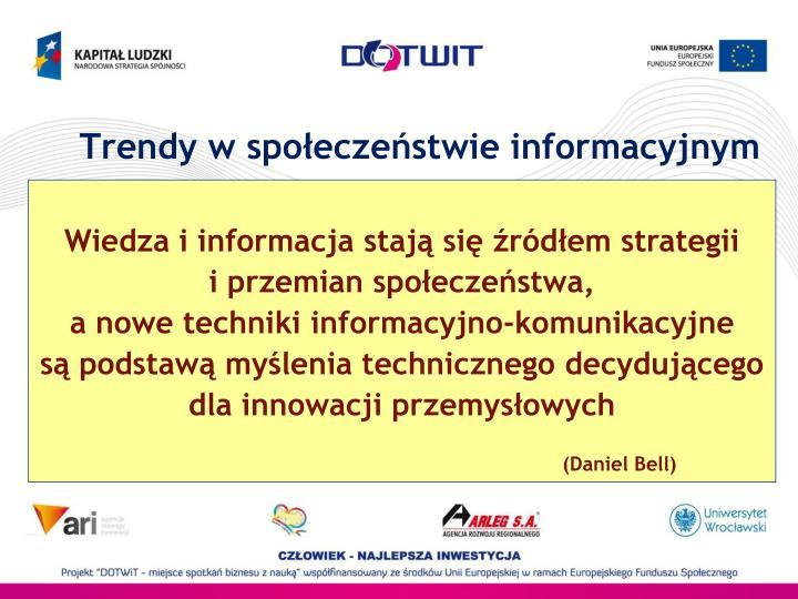 Trendy w społeczeństwie informacyjnym