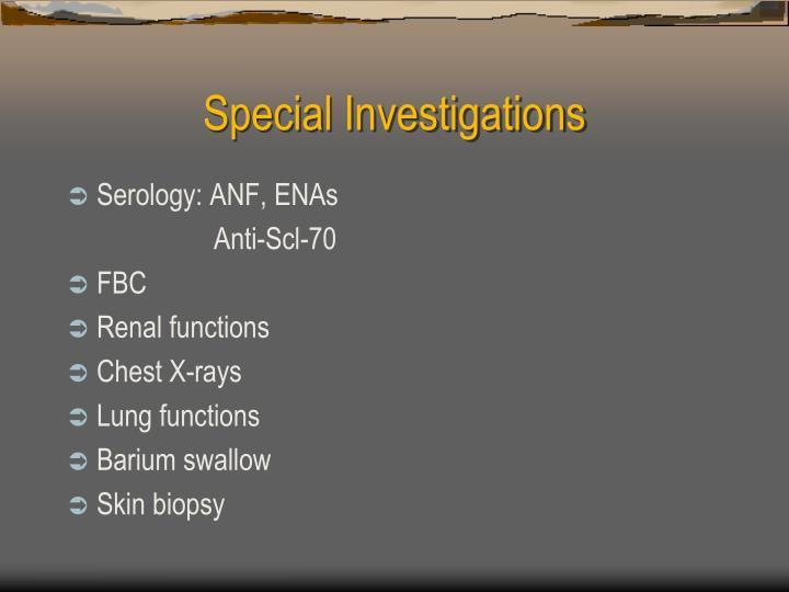 Special Investigations
