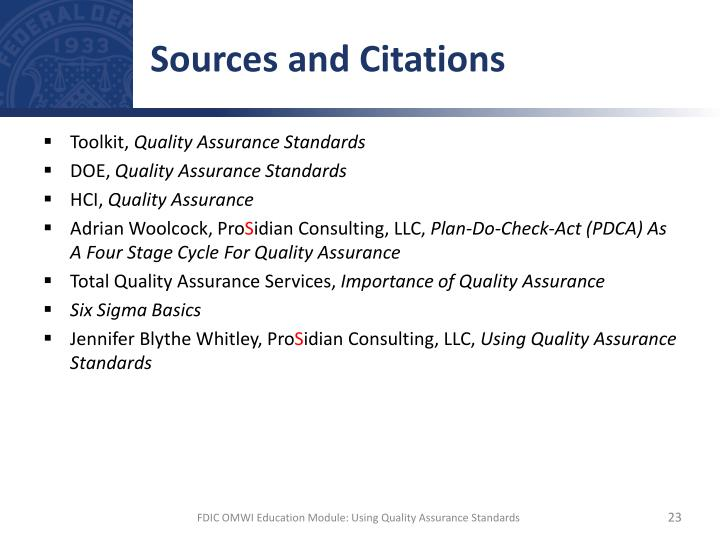 Sources and Citations