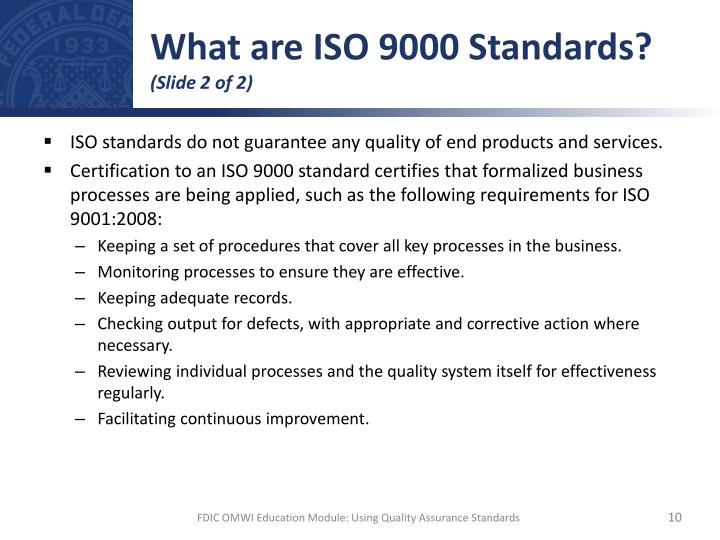 What are ISO 9000 Standards?