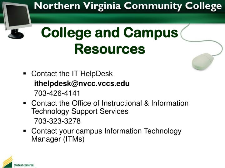 College and Campus Resources
