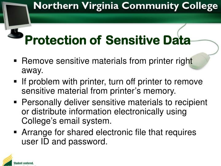 Protection of Sensitive Data