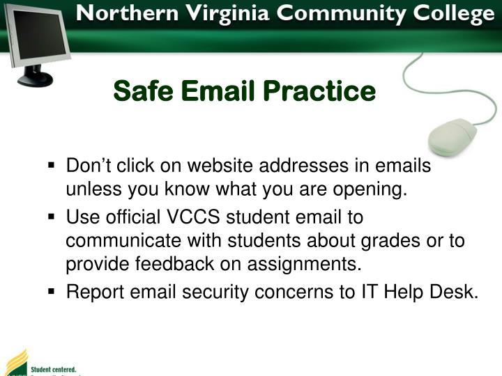 Safe Email Practice
