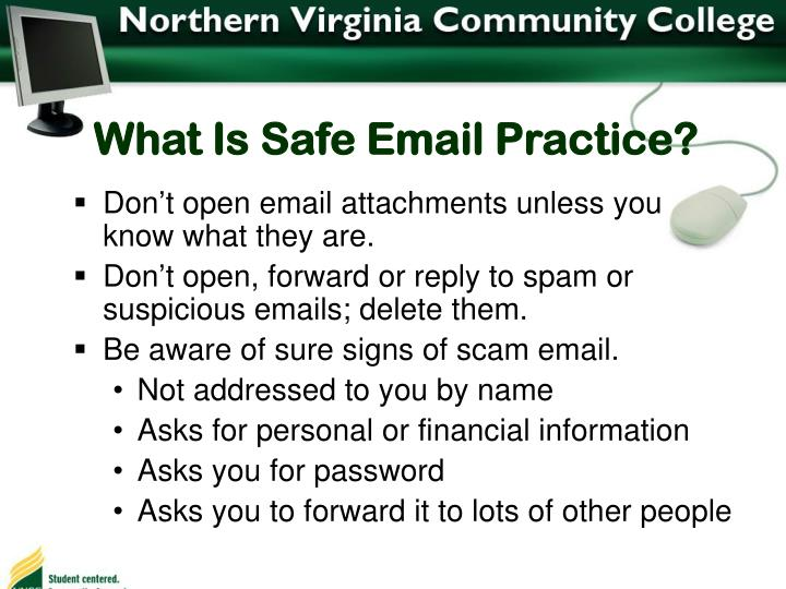 What Is Safe Email Practice?