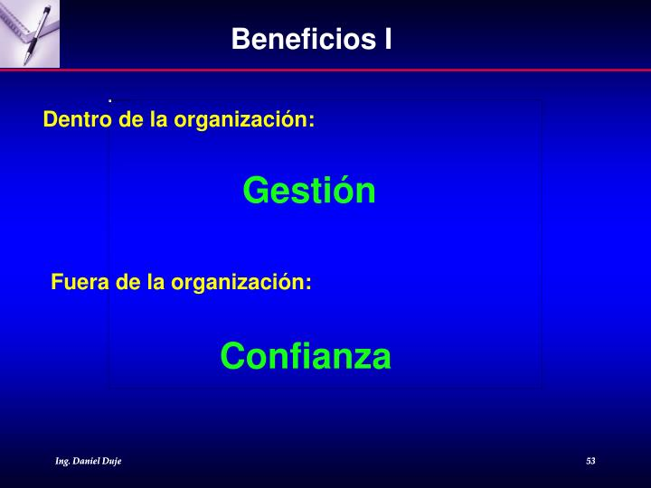 Beneficios I