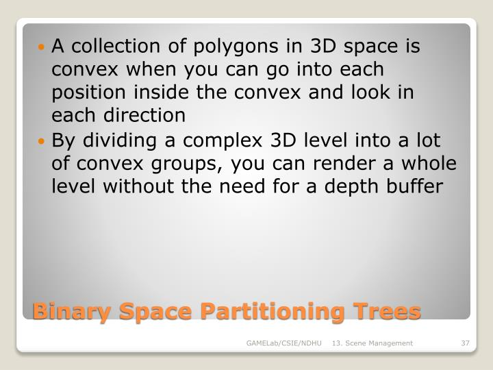 Binary Space Partitioning Trees