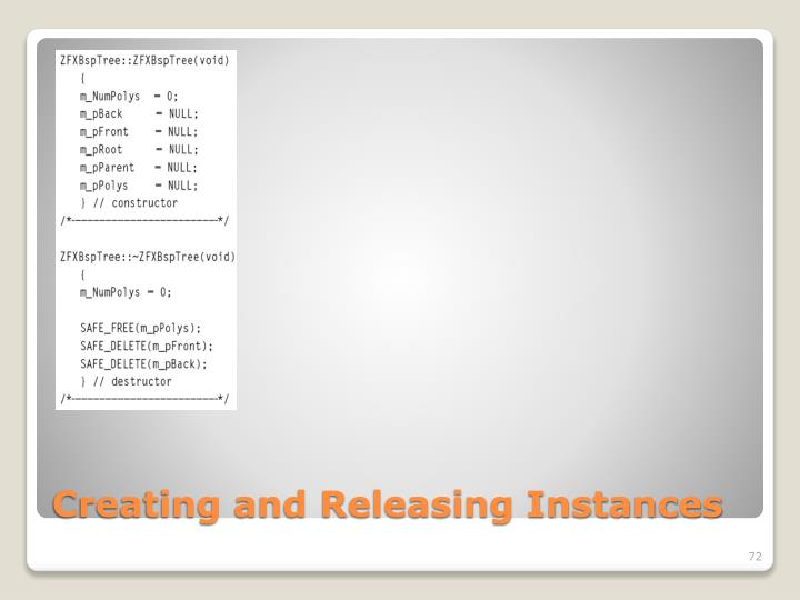 Creating and Releasing Instances