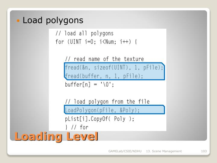 Load polygons