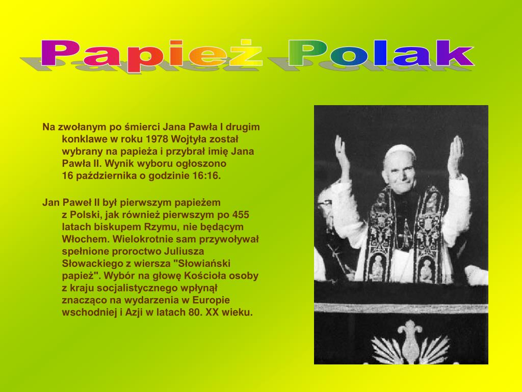 Ppt Jan Paweł Ii Powerpoint Presentation Free Download