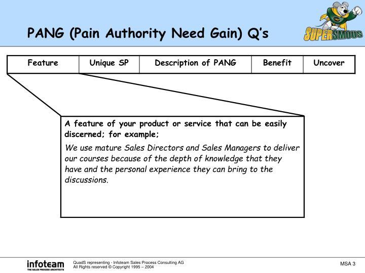 Pang pain authority need gain q s1