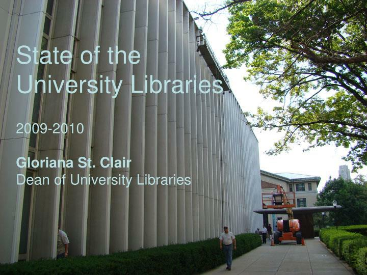 state of the university libraries n.
