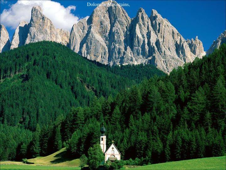 Dolomite Mountains,