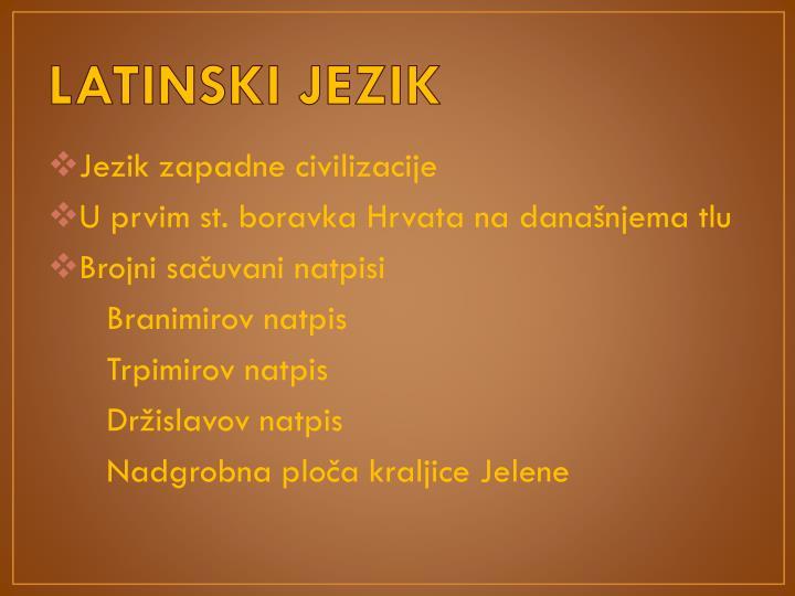 LATINSKI JEZIK