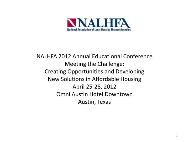 NALHFA 2012 Annual Educational Conference