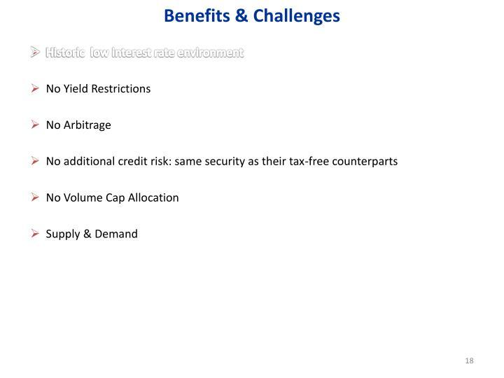 Benefits & Challenges