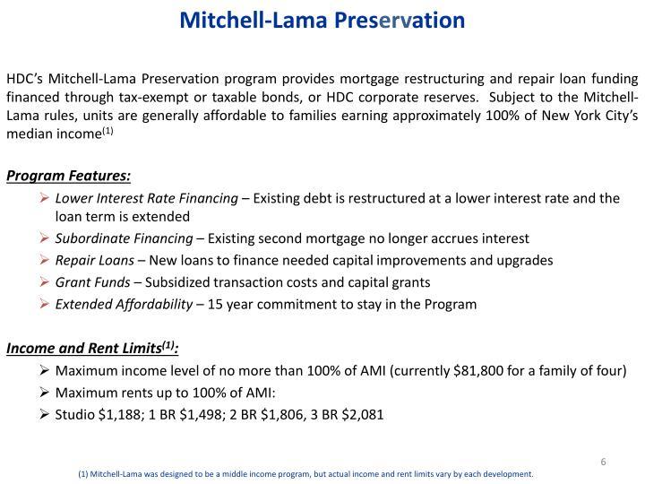 Mitchell-Lama Pres