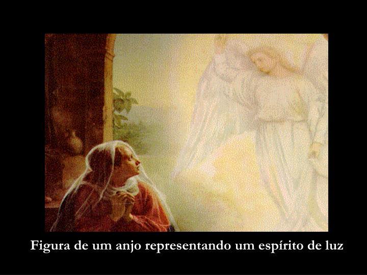 Figura de um anjo representando um espírito de luz
