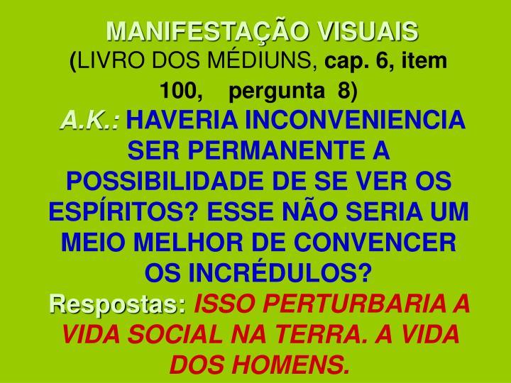MANIFESTAÇÃO VISUAIS