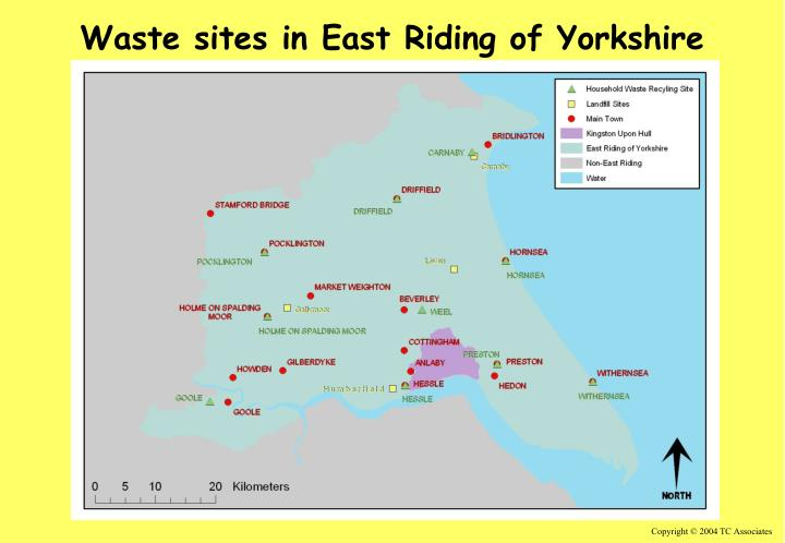Waste sites in East Riding of Yorkshire