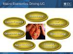 macro economics driving uc