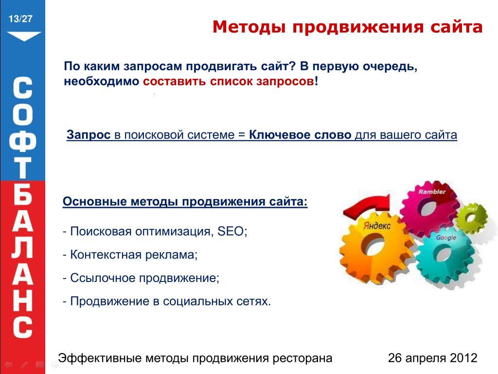 Какие способы существуют для продвижения сайтов доказательства создания сайта