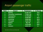 airport passenger traffic