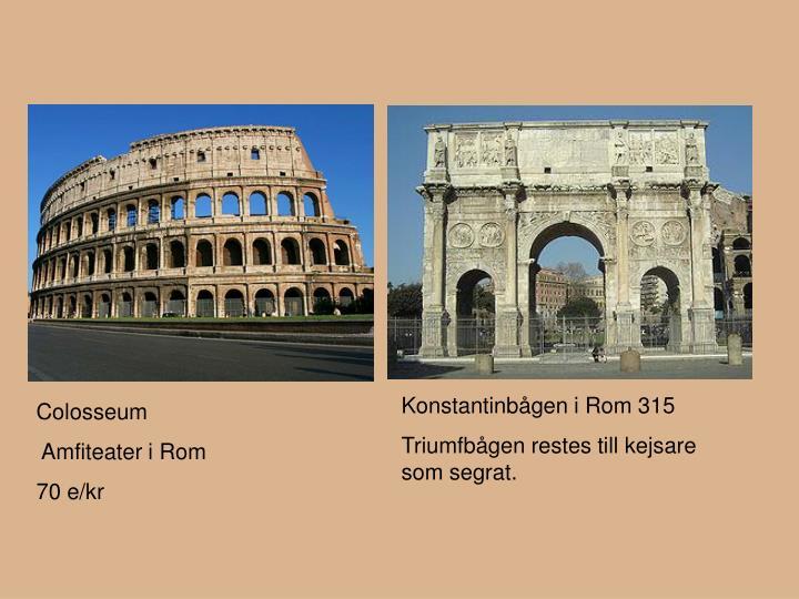 Konstantinbågen i Rom 315
