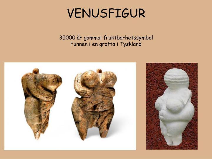 Venusfigur 35000 r gammal fruktbarhetssymbol funnen i en grotta i tyskland