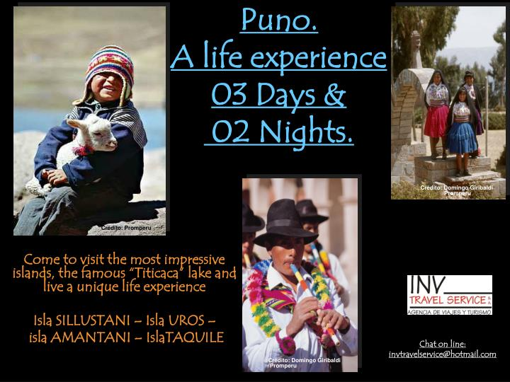 puno a life experience 03 days 02 nights n.