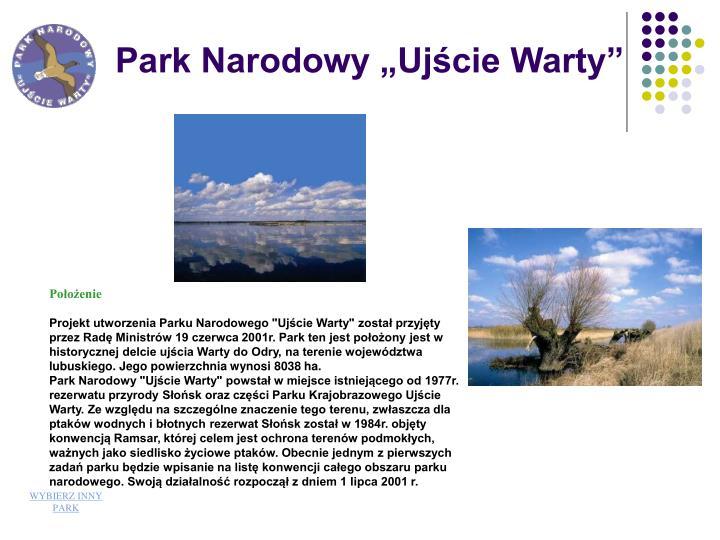 """Park Narodowy """"Ujście Warty"""""""