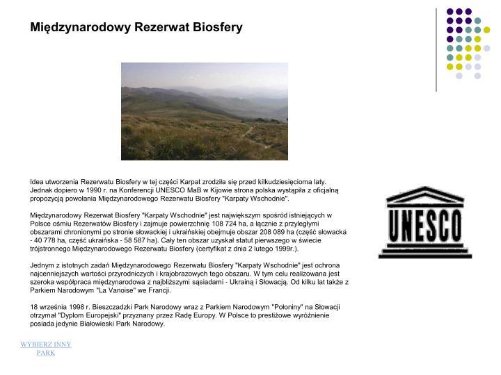 Międzynarodowy Rezerwat Biosfery