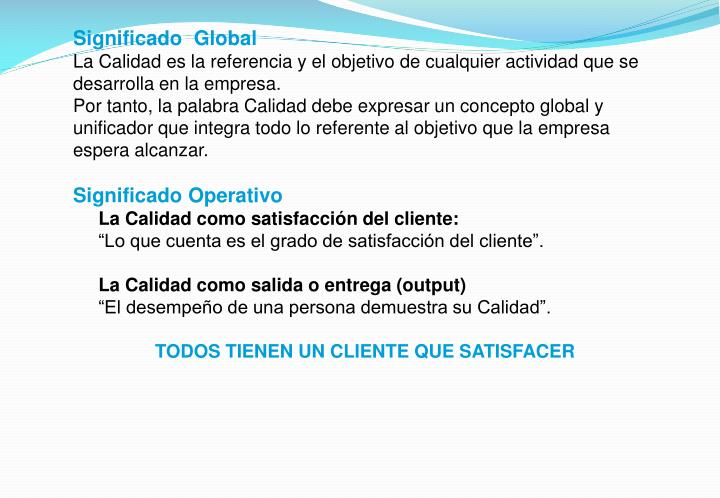 Significado  Global