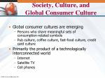society culture and global consumer culture2