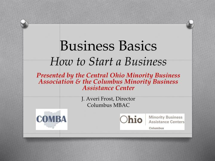 business basics how to start a business n.