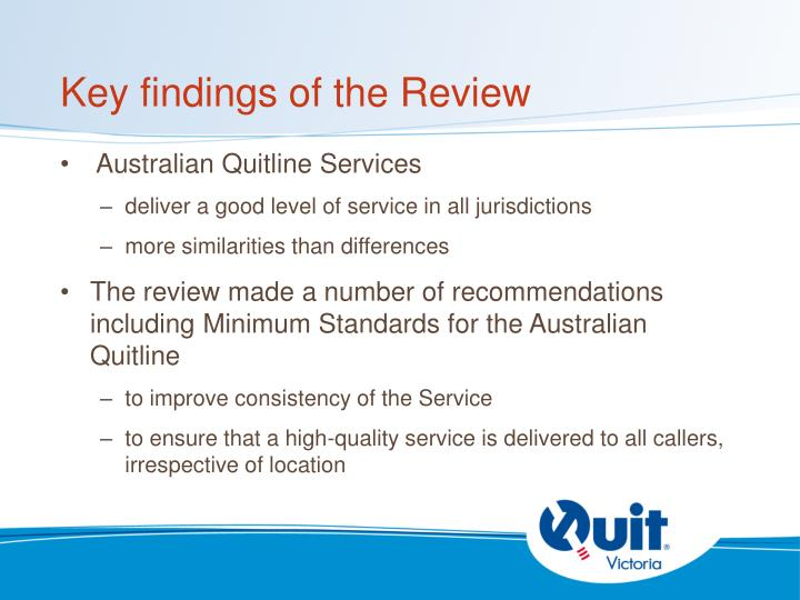 Key findings of the Review