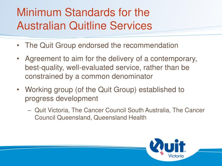 Minimum Standards for the