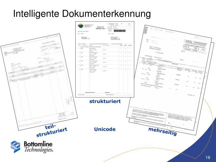 Intelligente Dokumenterkennung