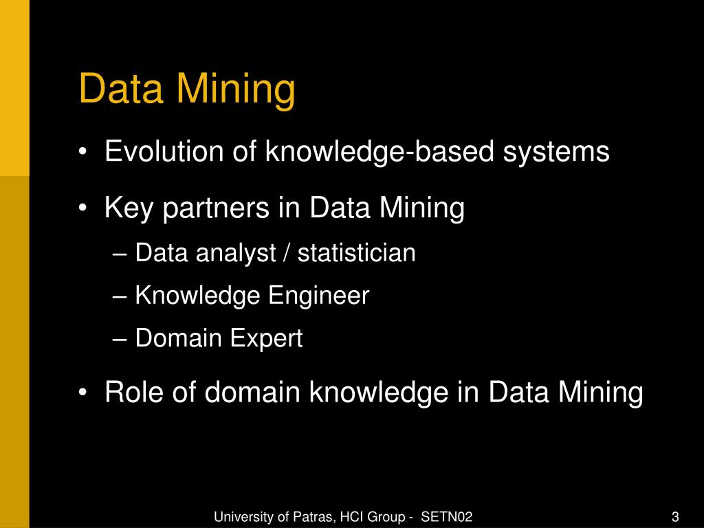 PPT - The role of Domain Knowledge in a large scale Data