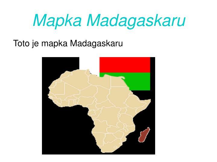 Mapka madagaskaru