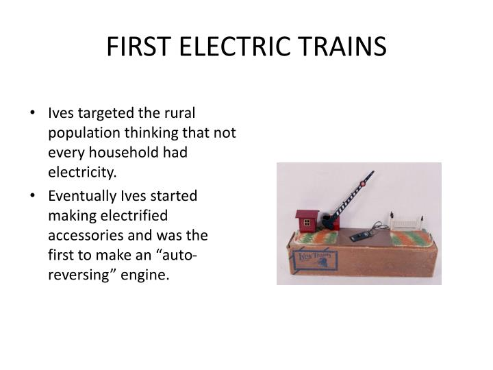 FIRST ELECTRIC TRAINS
