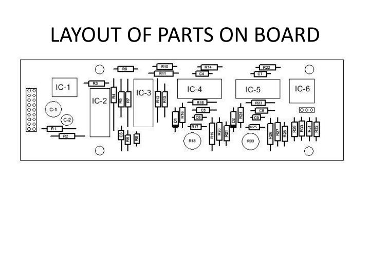 LAYOUT OF PARTS ON BOARD