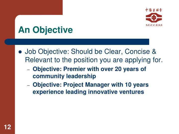 An Objective